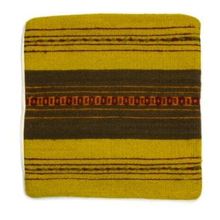 Handcrafted Zapotec Wool 'Zapotec Vibes' Cushion Cover (Mexico)