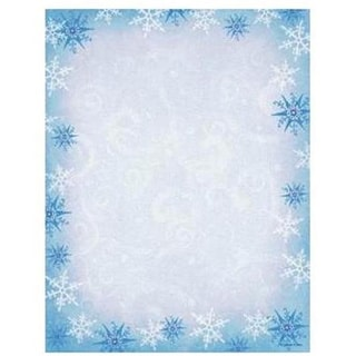 Blue Snowflake Stationery (Case of 80)
