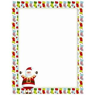Red, Green and White Santa and Stockings Holiday Stationery (Case of 80)