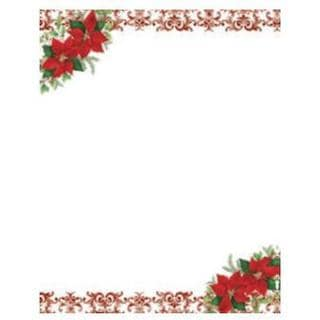 Poinsettia Holiday Stationery (Case of 80)