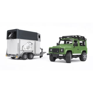 Bruder Toys Land Rover Station Wagon with Horse Trailer and Horse