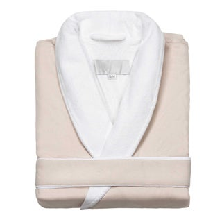 Terry Lined Microfiber Shawl Spa Robe