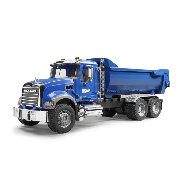 Toy Dump Trucks For Boys : Bruder toys boy s mack granite metal halfpipe dump truck