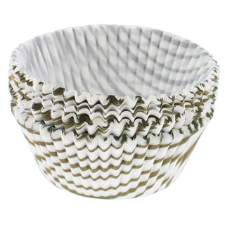 "Norpro 3442 2"" Regular Gold Swirl Muffin Cups 75-count"