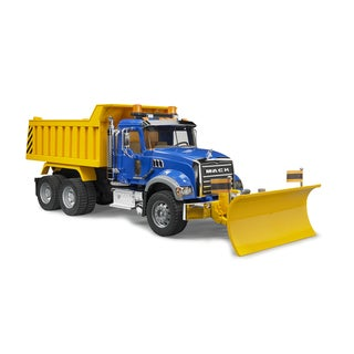 Bruder Toys MACK Metal Granite Dump Truck with Snow Plow Blade