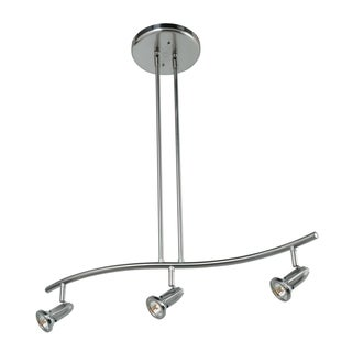 Access Lighting Cobra 3-light Brushed Steel Pendant