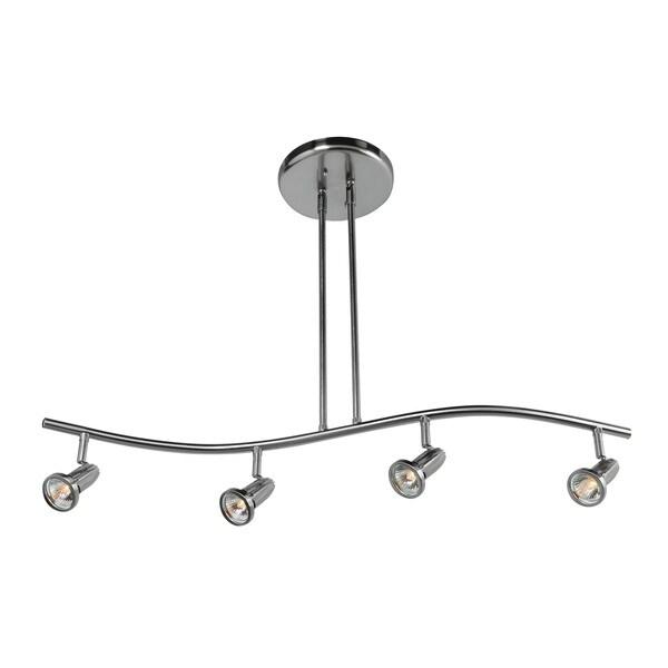 Access Lighting Cobra 4-light Brushed Steel Pendant - Silver