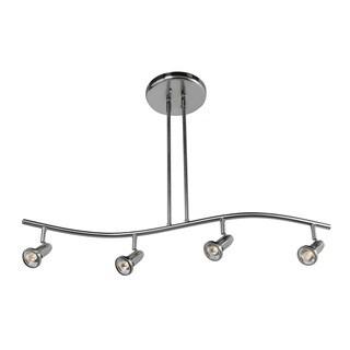 Access Lighting Cobra 4-light Brushed Steel Pendant