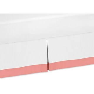 Sweet Jojo Designs White and Coral Mod Diamond Collection Bed Skirt