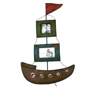 River Cottage Gardens A16964-BHUPS Wood Sailboat Picture Frame