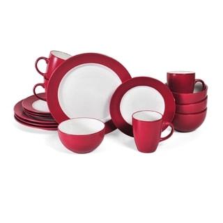Pfaltzgraff Everyday Harmony Red Stoneware16-piece Dinnerware Set (Service for 4)  sc 1 st  Overstock & Gourmet Basics by Mikasa Alpine Red 16-piece Dinnerware Set - Free ...