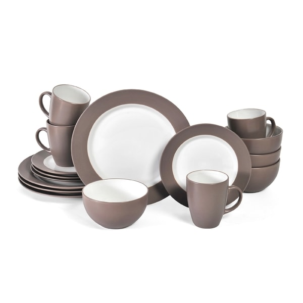 Pfaltzgraff Everyday Harmony Taupe Stoneware 16 Piece Dinnerware Set  (Service For 4)