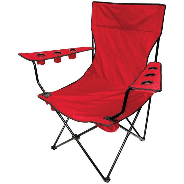 Kingpin Folding Chair Red