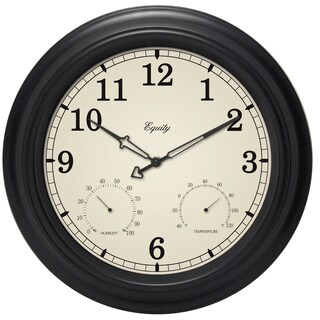 "Equity 27915 15.5"" Analog Wall Clock With Temperature And Humidity"