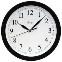 "Equity 25203 10"" Black Plastic Wall Clock"