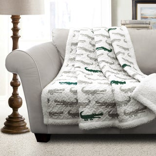 Lush Decor Alligator Sherpa Throw
