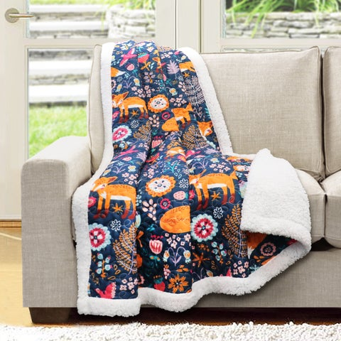 Lush Decor Pixie Fox Sherpa Throw