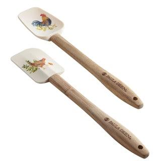 Paula Deen Tools Silicone Spatula/Spoonula Set, 2-Piece, Garden Rooster