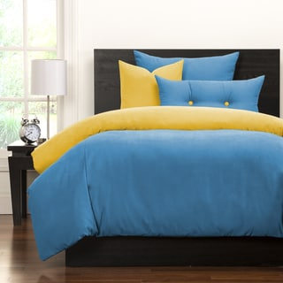 Crayola Cerulean and Laser Lemon Reversible 6-piece Duvet Cover Set
