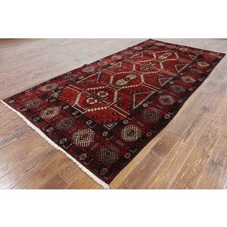 Oriental Persian Red Wool-on-wool Hand-knotted Rug (5'2 x 10'6)