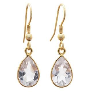 Handmade Gold-plated Gemstone Earrings (India)