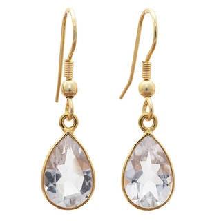 Link to Sitara Handmade Gold Overlay Gemstone Earrings (India) Similar Items in Earrings