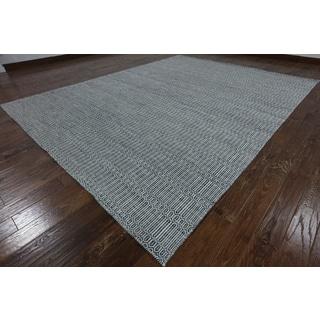 Oriental Multicolor Wool Hand-knotted Flatweave Rug (9'1 x 12'1)