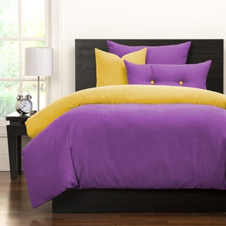 Crayola Vivid Violet and Laser Lemon Reversible 6-piece Duvet Cover Set