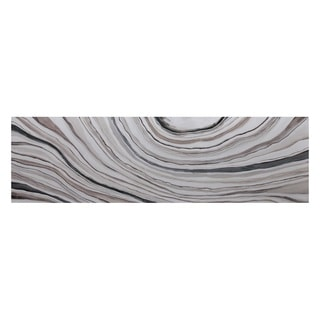 'White Marble' Multicolored Canvas Gallery-wrapped Abstract Artwork