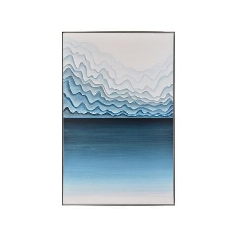 'Ripple Effect' Framed Canvas Art