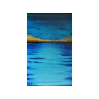 Sunpan 'Ocean Blue' Gallery-wrapped Canvas Wall Art