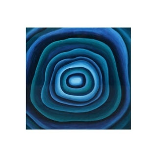 Sunpan 'Blue Agate' Gallery Wrapped Canvas Art