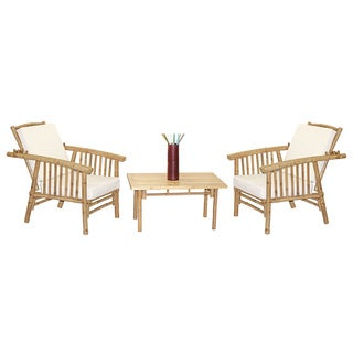 Handmade 4 Piece Mikong Chairs and Rectangular Table Set (Vietnam)