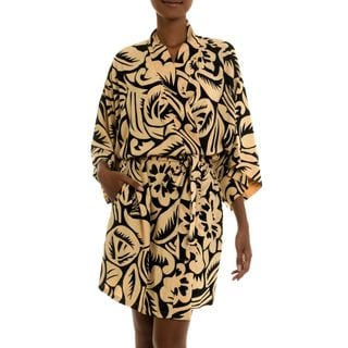 Handcrafted Rayon 'Sunset Shade' Short Robe (Indonesia)