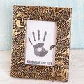 Handcrafted Brass 'Buddha's Blessing' Photo Frame (5x7) (India)