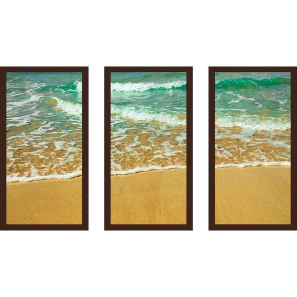"""Beachy Life 1"" Framed Plexiglass Wall Art Set of 3"