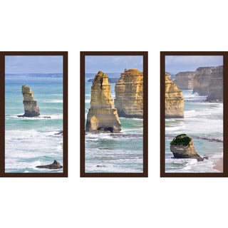 """The Twelve Apostles"" Framed Plexiglass Wall Art Set of 3"