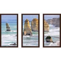 """The Twelve Apostles"" Framed Plexiglass Wall Art Set of 3"