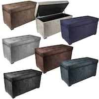 MJL Furniture Angela 8-button Tufted Obsession Storage Trunk Bench
