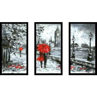 """London Romance"" Framed Plexiglass Wall Art Set of 3 (2 options available)"