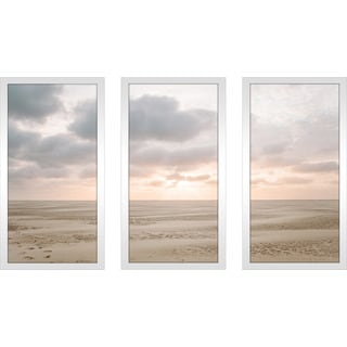 """Dutch Wadden island of Texel"" Framed Plexiglass Wall Art Set of 3"