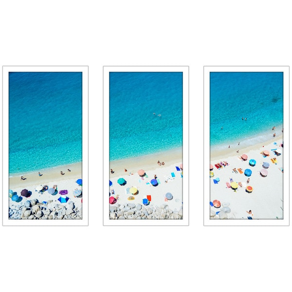 """See the Sea"" Framed Plexiglass Wall Art Set of 3"