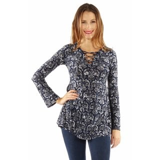 Pretty Print Silky Tunic Top