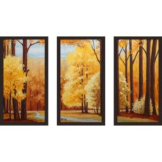 """""""Autumn"""" Framed Plexiglass Wall Art Set of 3"""
