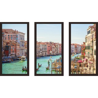 """Venice, Italy"" Framed Plexiglass Wall Art Set of 3"