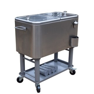 Oakland Living Corporation Glacier Stainless Steel Premium All-in-one Detachable Cooler Cart