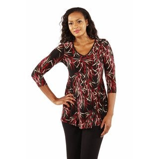 Soft Bamboo Print Tunic Top