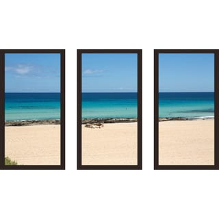 """Canary Islands"" Framed Plexiglass Wall Art Set of 3"