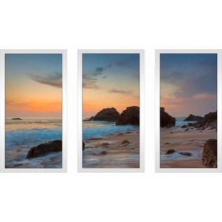 """Portugal, Europe"" Framed Plexiglass Wall Art Set of 3"