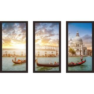 """""""Venice, Italy"""" Framed Plexiglass Wall Art Set of 3"""